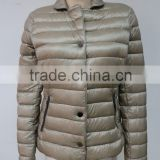 Women ultra elegant light down jacket for winter