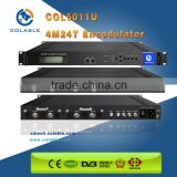 High integrated HD encoder modulator cable tv headend system/ mpeg2 & h.264 video encoding RF modulator DVB-T/C ATSC ISDB out