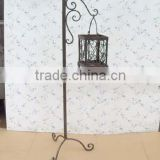 wrought iron Candle Holders metal hanging lantern stand