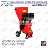 13HP 389CC gasoline 4 stroke Garden Shredder,chipper shredder,wood powder pellet making machine