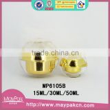 Hot sale with good quality double wall with beauty ball made in china square golden acrylic cream jar