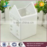 Wholesale white ceramic houses candle holder