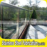 Residential 304 Stainless Steel Stair Outdoor Glass Railings