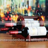 Custom Made Hanging Wine Glass Rack Fashion Supermarket Display Wine Rack with low price