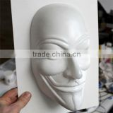 White Custom Made Vacuum Thermoforming Plastic Masks