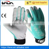 Top quality elastic velcro cuff closure pig grain leather palm glove