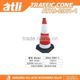 "Standard 28"" High Solid One piece Flexible Road cone Safe cone Reflective PVC and rubber Traffic Cone"