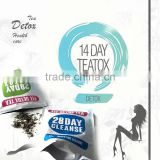 Herbal Yerba Mate Slim Detox Tea With Customized Logo-14 Day/28 Day Organic Weight Loss Tea