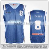 Best selling china supplier plain white print basketball tops and shorts