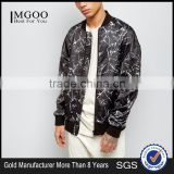 Fashion Design Custom Black Crackle Printing Bomber Jacket Oversized Dropped Shoulders Streetwear Mens Digital Print Jacket