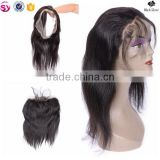 wholesale natural color 1b# huma hair 360 lace frontal closure