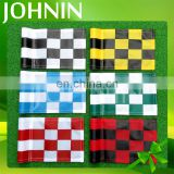 OEM High Quality 420D Nylon Durable Colorful Grid Golf Flags With Customized Logo