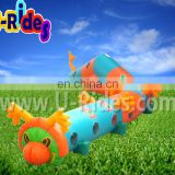Rental use Inflatable play Tunnel toy caterpillar tunnel toy for kids