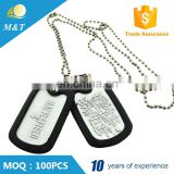 Custom cheap logo laser engraved military dog tag couple shape stamped blank metal dog tags with ball chain