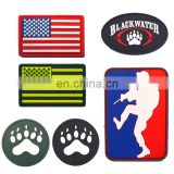 Customized Color Top Quality No Mold Cost USA American Flag Tactical Morale Soft Rubber Custom PVC Patch