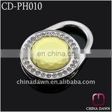 Fashion gift tas haak with yellow crystal CD-PH010