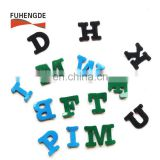 Factory supplier sticky hook and loop patch magic alphabets letter
