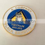 metal Vietnam black bandits challenge coin gold plating society coin