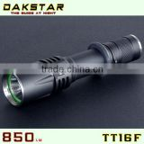 DAKSTAR TT16F XM-L U2 850LM 18650 Police Rechargeable Side Switch Stepless Diming Aluminum CREE LED Tactical Flashlight