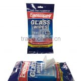 Factory hot sell Portable Galss Wipes