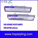 18 SMD Car LED license plate lamp for Opel Astra Corsa Auto LED Accessory number plate light