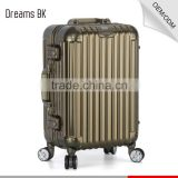 Hot sale luggage case aluminium suitcase trolley with double handle