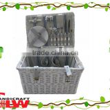 oversized hamper with coolbag new design cheap wholesale natural split wicker picnic basket food basket 4 persons