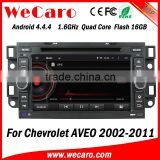 Wecaro WC-CU7011 Android 4.4.4 car dvd player quad core for chevrolet aveo car cd player with bluetooth audio system 1080p