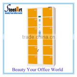 12 door electronic locker with barcode lock/ electronic storage lockers for supermarket office /hotel /gym