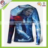 custom long sleeve spandex compression sport t shirt                                                                         Quality Choice