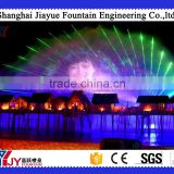 Water curtain/screen movie fountain, water curtain with projector for night fountain show