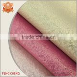 Coating glitter embossed pu leather fabric