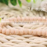 Solid Peach 2mm to 12mm AAA Quality Wholesales Price Loose Jade Crystal Facted Roundelles Glass Beads for Jewelry Cheapest
