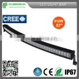 Hot sell rugged long-lasting 57 inch cree curved off road led light bar 120W 180W 240W 288W 300W 312W IP68 DRCLB312-C
