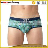 Nylon spandex men swimsuit brief sexy printing mens swimwear wholesale                                                                                                         Supplier's Choice