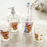 Cute transparent acrylic plastic kids bathroom vanity sets