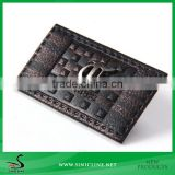 Sinicline Custom metal clothing label and jeans leather patch with metal made in China