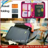 Anti theft travel document organizer money pouch Multifunction Carrying case document holder with pen holders for tour