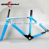 Newest 700C Track bike carbon fiber frame TT trial carbon bicycle frame+fork+seatpost+seat clamp+headsets
