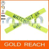 Wholesale Promotional reflective wristband/plastic armband/snap band