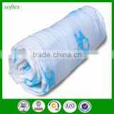 Environmental protection coating printing 100% cotton printed muslin fabric for baby
