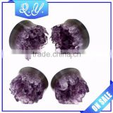 2015 fashion body piercing jewelry ear gauge expanders & crystal ear plugs
