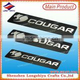 Cheap silver metal custom brushed metal nameplate,aluminum highlight logo badge label with 3M adhesive tape