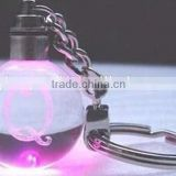 promotional led light bulb shape acrylic crystal keychain wholesale