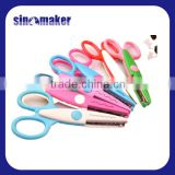 High Quality beautiful Safety plastic handle craft kids scissors