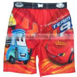cheap kidswear character printed underwear summer children's beach wear beach shorts