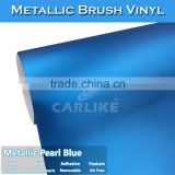CARLIKE Chrome Metallic Pearl Blue Brushed Car Protection Adhesive Vinyl Film
