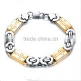 NEW Hot Sale Fashion jewelry Unique creative Cross Graphics Men Bracelets stainless steel male accessories