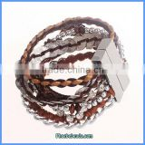 Wholesale Ready Stock Hot Sale Leather Festival Bracelets FHB-003B