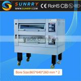 Professional bakery equipment stainless steel 2 decks outdoor domestic electric oven for pizza used
